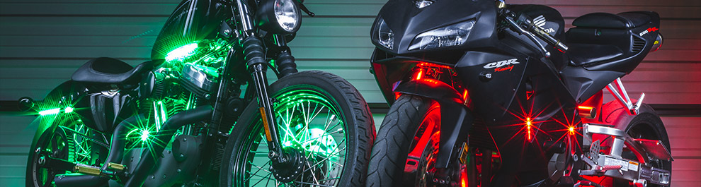Multi-Color LED Motorcycle Lights