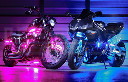 Ledglow advanced million color motorcycle smd led lights contact us here mozeypictures Gallery
